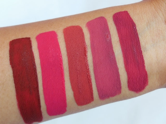 Sugar Smudge Me Not Liquid Lipsticks Swatches - Dry
