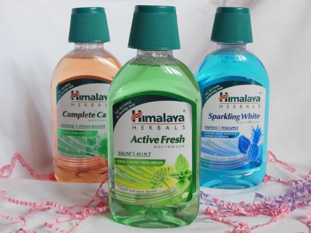Himalaya Herbals Mouthwash Variants