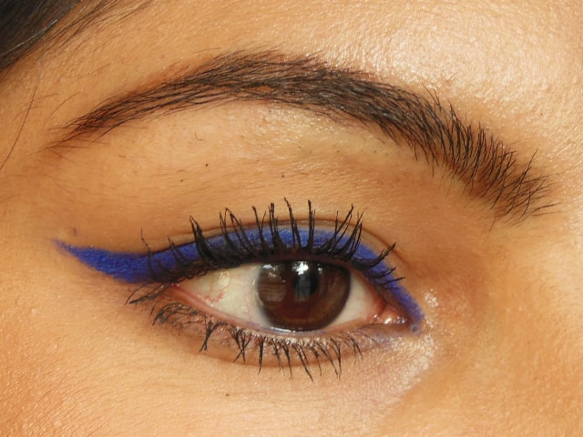 Maybelline Eyestudio Lasting Drama Waterproof Gel Pencil Lustrous Sapphire EOTD