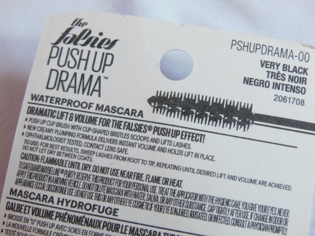 Maybelline Push Up Drama Mascara Details