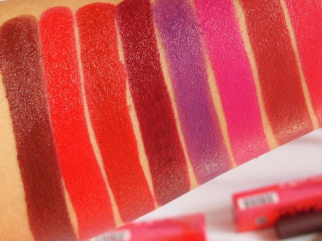 NYKAA PaintStix Lipsticks Swatches 2-min