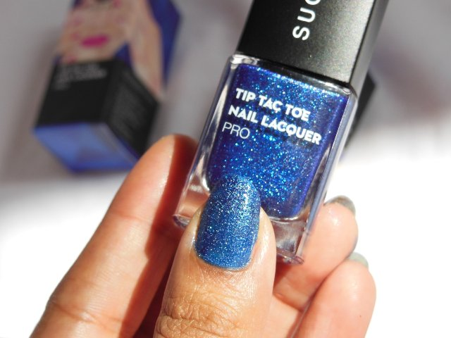 Sugar Cosmetics Tip Tac Toe Nail Lacquer - Set on Sapphire NOTD