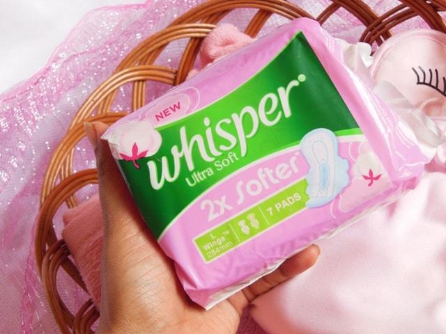 Whisper Ultra Soft 2X Softer Sanitary Napkins