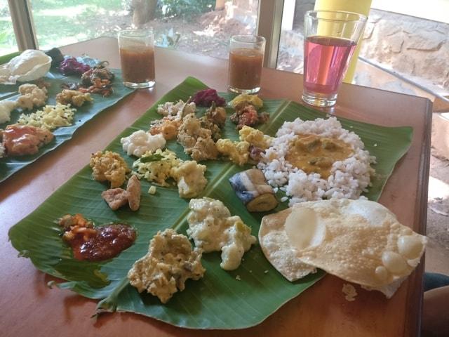 Authentic Kerela Food at Kairali Health and Spa Resort