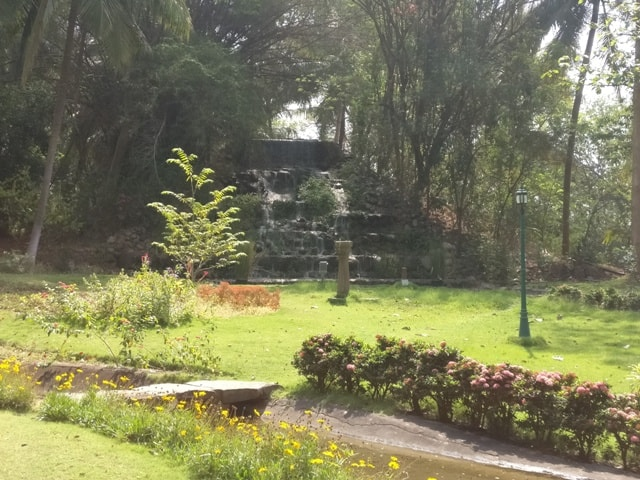 Waterfall at Kairali Resorts
