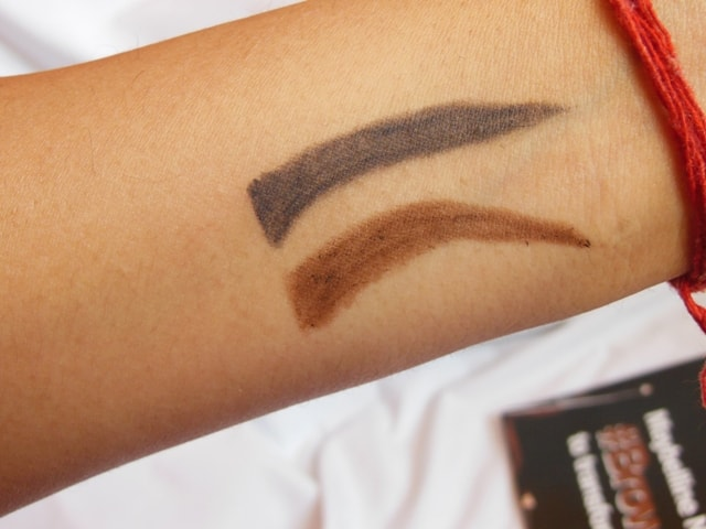 Maybelline Creamy Brow pencils Swatch
