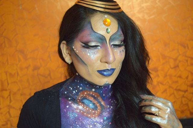 NYX Face Awards India 2017 Makeup Look - Alien Princess Poonam_BMM