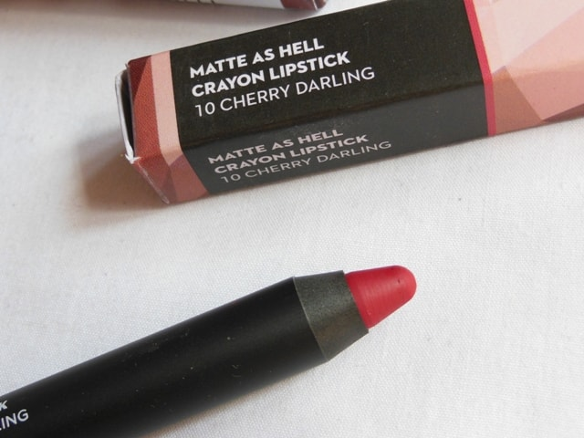 New Sugar Matte As Hell Crayon Lipstick- Cherry Darling