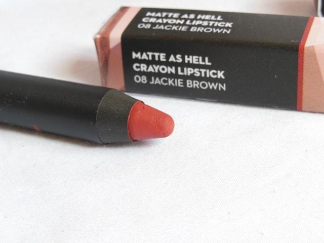 New Sugar Matte As Hell Crayon Lipstick - Jackie Brown Shade
