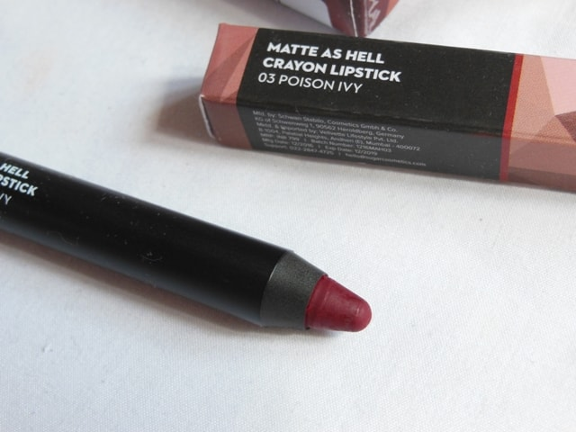 New Sugar Matte As Hell Crayon Lipstick - Poison Ivy Shade