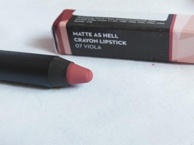 New Sugar Matte As Hell Crayon Lipstick - Viola
