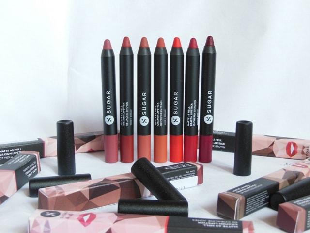 New Sugar Matte As Hell Crayon Lipsticks Review