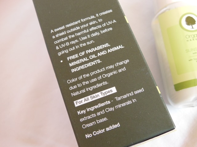 Organic Harvest Sunscreen SPF 60 Claims