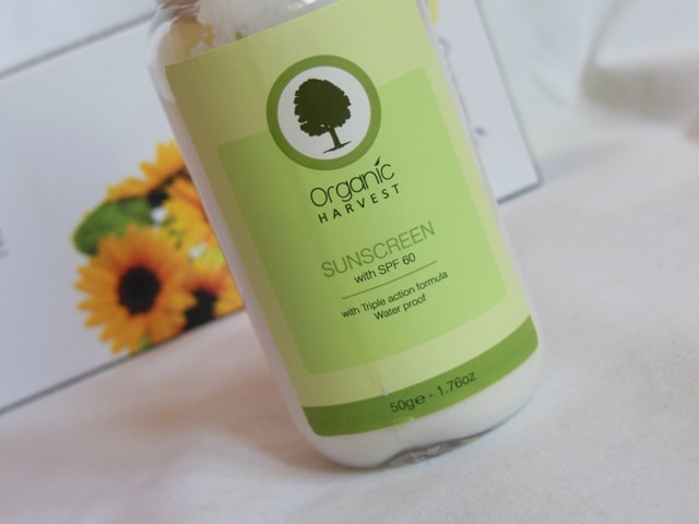 Organic Harvest Water proof Sunscreen SPF 60