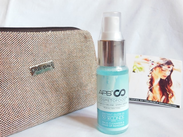 June Fab bag 2017 Review - APS Cosmetofood Organic Spring Water