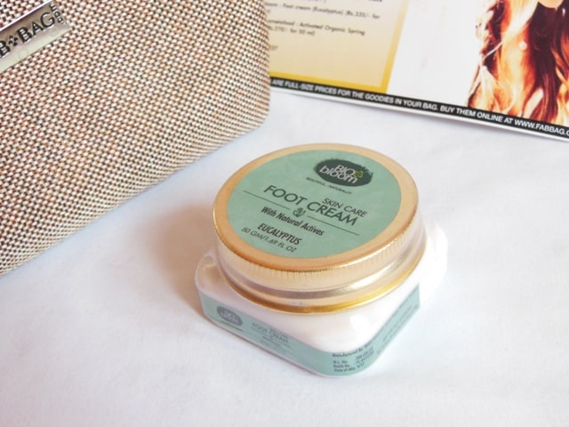 June Fab bag 2017 Review - Bio Bloom Foot Cream Packaging