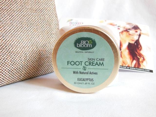 June Fab bag 2017 Review - Bio Bloom Foot Cream