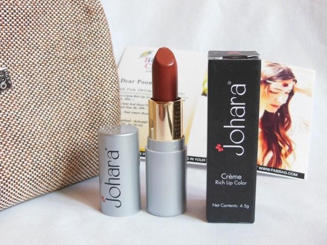 June Fab bag 2017 Review - Johara lipstick.