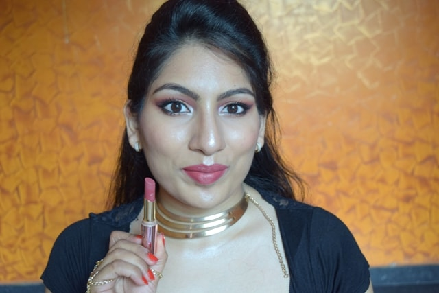 Lakme 9to5 Primer + matte Lipstick- Rosy Sunday Lip Swatch