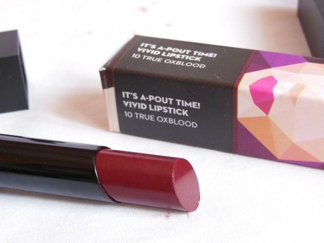 Sugar Its a Pout Time Vivid Lipstick - True Oxblood Review