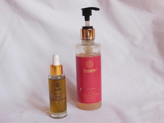 Tvakh Antioxidant shampoo and Hair Elixir