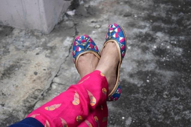 Punjabi Jutti Designs - Denim Star