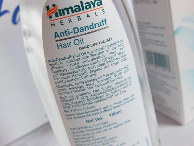 Himalaya Anti Dandruff Hair Oil Claims