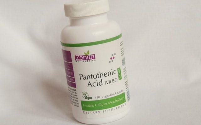Zenith Nutrition Pantothenic Acid (Vitamin B5), 500mg
