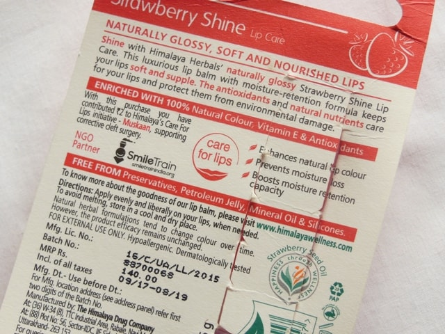 Himalaya strawberry Shine Lip Balm claims and Price - Winter Skincare