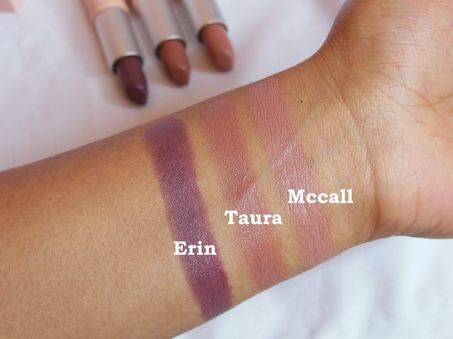 Maybelline X GIGI Hadid East Coast Glam Lipstick Swatches