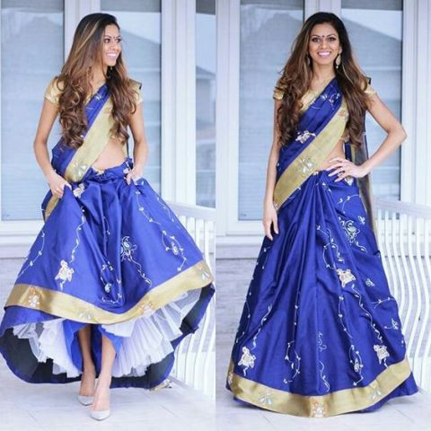 Saree Fashion Trend 2018 -Can Can Saree Style 2