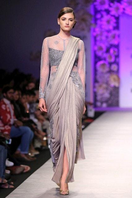 Saree Fashion Trend 2018 -Dhoti Style Saree 1