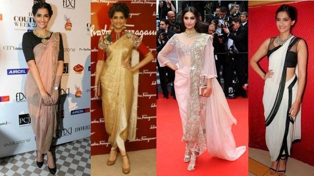 Saree Fashion Trend 2018 -Dhoti Style Saree Sonam Kapoor