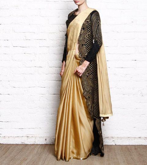 Saree Fashion Trend 2018 -Jackets-on-sarees-bollywood-celebs