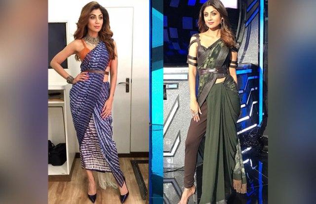 Saree Fashion Trend 2018 -Saree over Pants 2