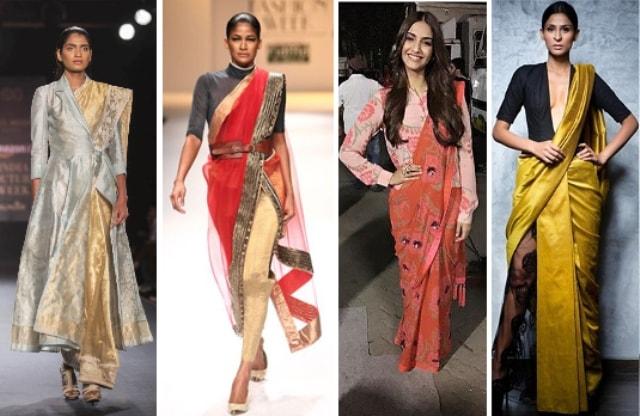 Saree Fashion Trend 2018 -Saree over Pants
