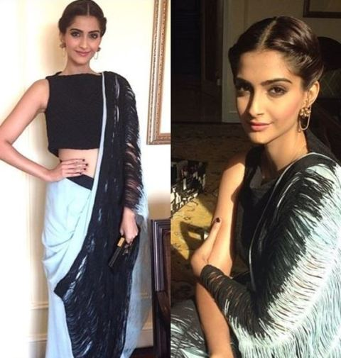 Saree Fashion Trend 2018 -Saree with Crop Top Style