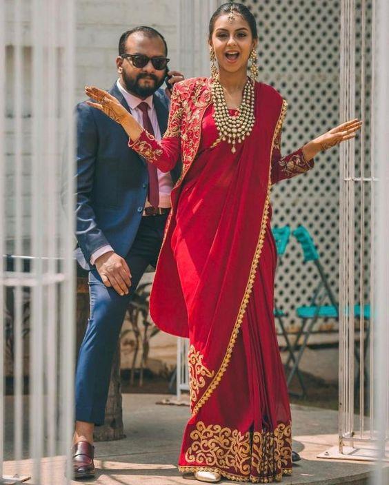 Saree Fashion Trend 2018 -jacket Style Saree