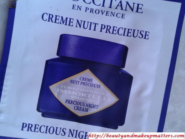L'Occitane-Immortelle-Precious-Night-Cream-Review