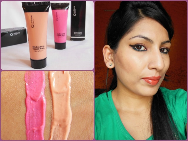 Oriflame Studio Artist Cream Blush Soft Peach Look