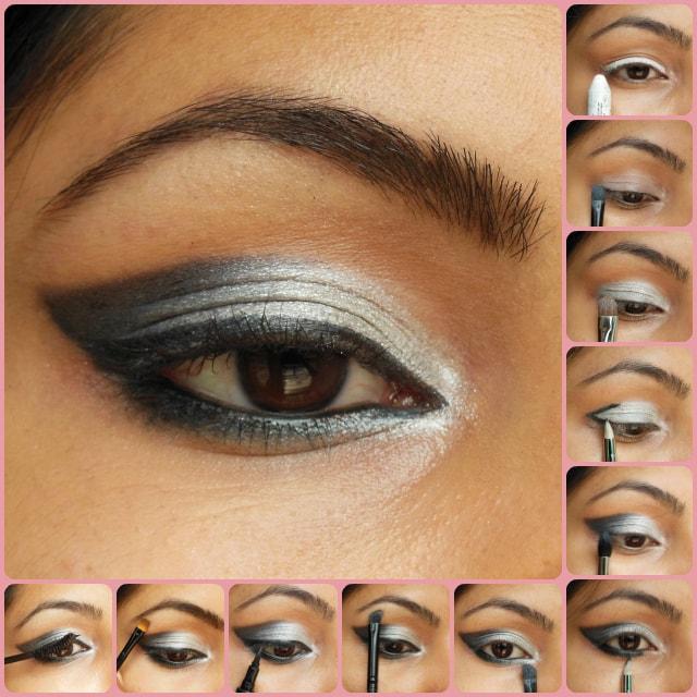 Eye Makeup Tutorial - Black Gray Smokey Eyes