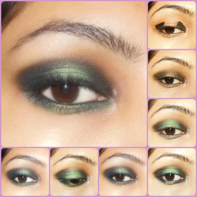 Eye Makeup Tutorial - Black and Green Eyes