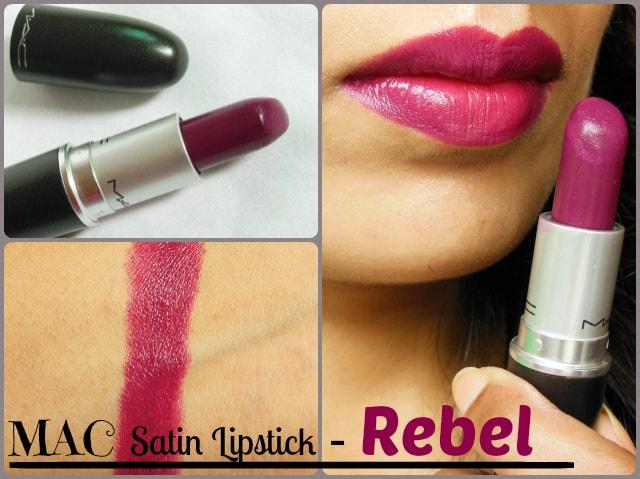 MAC Satin Rebel Lipstick Look