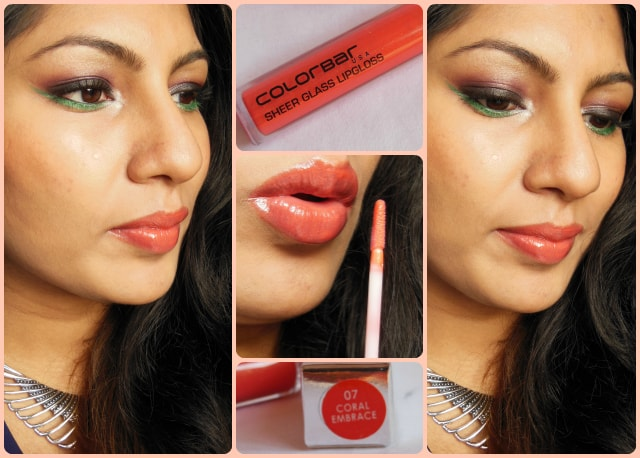 Colorbar Sheer Glass Coral Embrace Lip Gloss Look