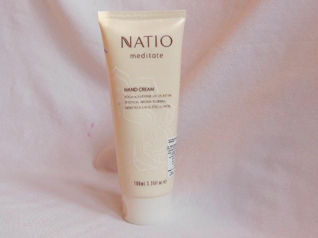 Natio Meditate Pink Lotus Hand Cream Review