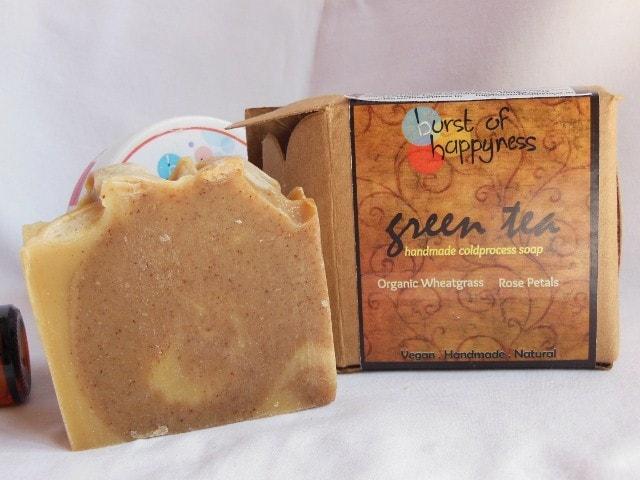 Burst of Happyness Handmade soap - Green Tea