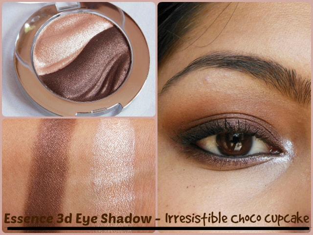 Essence 3D Eye Shadow Irresistble Choco CupCake Look