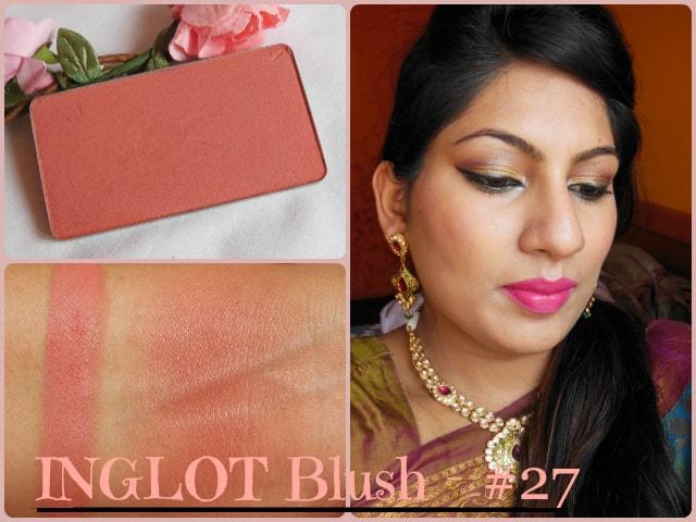 INGLOT Freedom System Powder Blush #27 Look