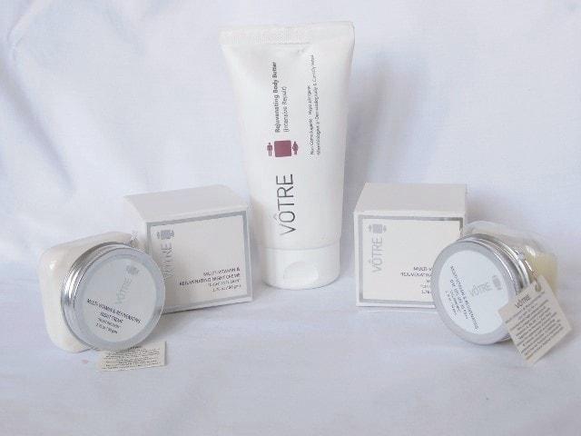 Votre Multi Vitamin and Rejunevating Skin Care Range