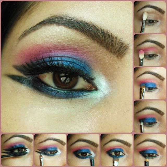 Eye Makeup Tutorial-Blue Marina Eyes